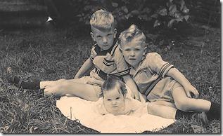 Roel, Rinze en Jenny 1951